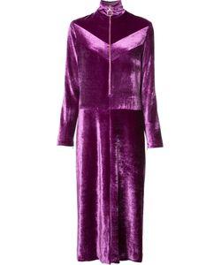 Nina Ricci | Zipped Neck Velvet Dress 38 Cotton