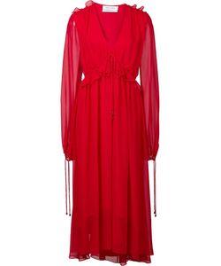 Prabal Gurung | V-Neck Flounce Dress 2 Silk
