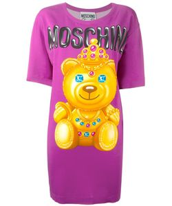 Moschino | Bear Print T-Shirt Dress 40 Rayon/Other Fibers