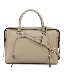 DKNY | Zip Pocket Tote Calf Leather