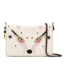 COACH | Rocket Embellished Shoulder Bag Calf Leather