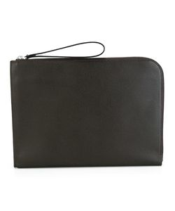Valextra | Large Zipped Clutch Calf Leather