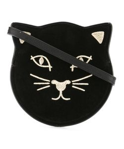 Charlotte Olympia | Pussycat Shoulder Bag Velvet/Viscose/Leather