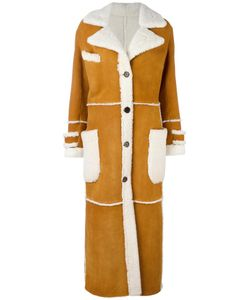 Simonetta Ravizza | Long Button Down Coat 42 Sheep