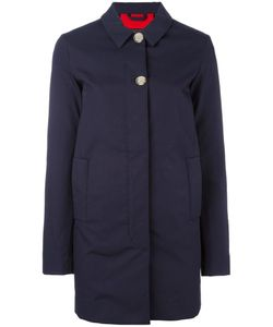 Woolrich | Buttoned Mid Coat Large Cotton
