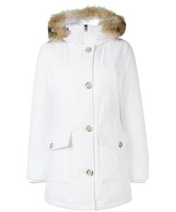 Woolrich | Zipped Hooded Coat Xs Cotton/Polyamide/Feather Down