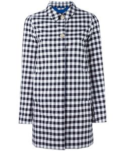 Woolrich | Checked Mid Coat Large Cotton