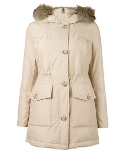 Woolrich | Trimmed Hood Zipped Coat Large Cotton/Polyamide/Coyote Fur/Polyamide