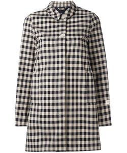 Woolrich | Checked Mid Coat Medium Cotton