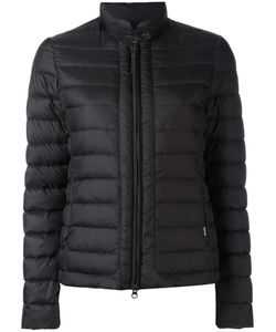 Woolrich | Banded Collar Zipped Jacket Large Polyamide/Feather Down