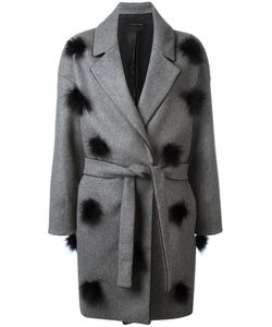 Mother | Belted Pom Pom Coat Small Wool/Polyamide/Viscose