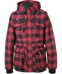 Mostly Heard Rarely Seen | Checked Hooded Coat Small