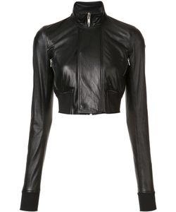 Rick Owens | Cropped Biker Jacket 38 Leather