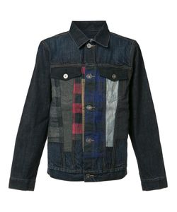 Mostly Heard Rarely Seen | Checked Detailing Denim Jacket Large