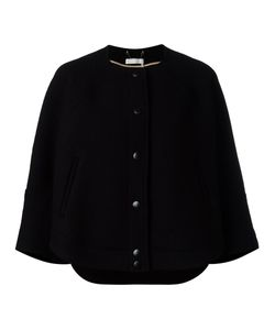 Chloe | Chloé Cape Sleeve Jacket 40 Virgin Wool/Polyamide/Cotton/Viscose