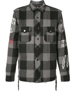 HACULLA | Plaid Shirt Jacket Medium Polyester/Wool