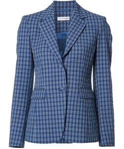 Altuzarra | Button Up Checked Blazer 36 Polyester/Acetate/Cotton/Spandex/Elastane