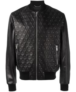 Versace | Studded Embroidered Triangle Jacket 54 Lamb Skin/Viscose/Cupro/Spandex/Elastane