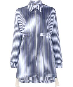 Adam Lippes | Striped Drawstring Anorak Xs Cotton/Silk