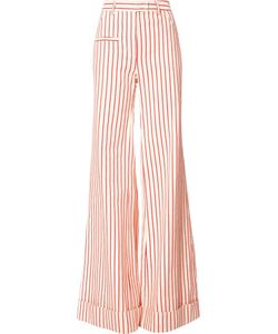 Rosie Assoulin | Striped Wide-Leg Pants 2 Cotton/Linen/Flax