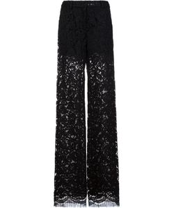 Adam Lippes | Lace Relaxed Leg Trousers 4 Cotton