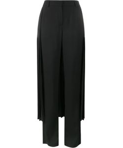 Adam Lippes | Pleated Tuxedo Trousers 6 Viscose/Polyester/Cotton/Silk