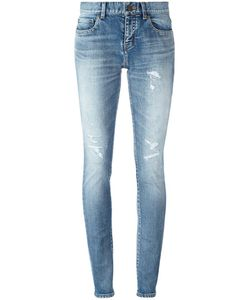 Saint Laurent | Mid-Rise Skinny Fit Jeans 28 Cotton/Spandex/Elastane