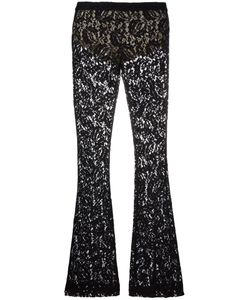 Moschino | Lace Flared Trousers 38 Rayon/Polyamide/Polyester