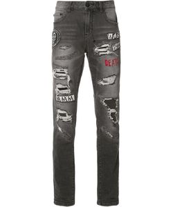 HACULLA | Patches Ripped Jeans 34 Cotton/Polyester