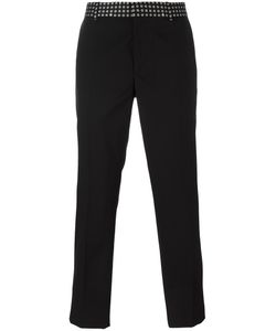 Alexander McQueen | Printed Waistband Straight-Leg Trousers 54 Wool/Acetate/Viscose