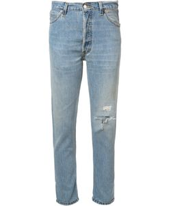Re/Done | High-Rise Cropped Non-Destruction Jeans 28 Cotton