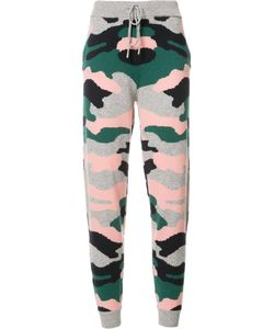 Chinti And Parker | Military Print Track Pants Medium Cashmere/Mercerized