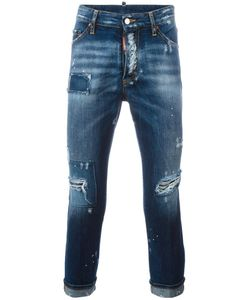 Dsquared2 | Glam Head Distressed Patchwork Jeans 50 Cotton