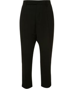 Rick Owens | Drop-Crotch Cropped Trousers 42 Viscose