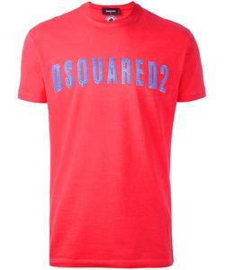 Dsquared2 | Vintage Effect Logo T-Shirt Large Cotton