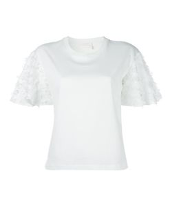 See By Chloe | See By Chloé Fringed T-Shirt Medium Cotton/Viscose/Polyamide