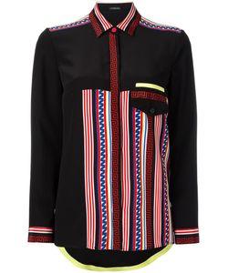 Versace   Race Stripes Shirt 38 Silk