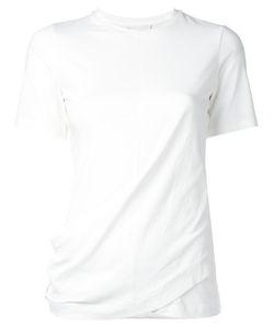 DKNY | Draped T-Shirt Small Cotton/Spandex/Elastane