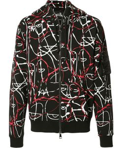 HACULLA | Abstract Motif Zipped Hoodie Small Cotton/Polyester
