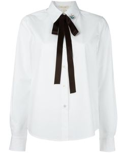 Marc Jacobs | Embellished Pin Pussybow Shirt 2 Cotton/Spandex/Elastane