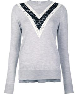 Adam Lippes | Lace Inset Jumper Large Merino