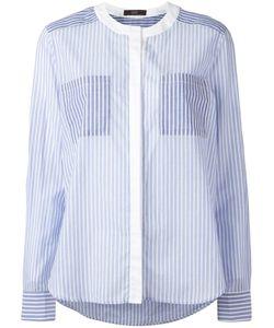 Steffen Schraut | Collarless Striped Shirt 38 Cotton