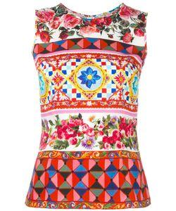 Dolce & Gabbana   Mambo Print Tank Top 42 Silk/Spandex/Elastane