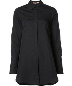 BROCK COLLECTION   Cutaway Collar Shirt 12 Cotton/Silk