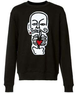 HACULLA | Heart Print Sweatshirt Large Cotton/Polyester