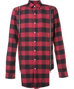 Mostly Heard Rarely Seen | Zipped Detailing Plaid Shirt Small