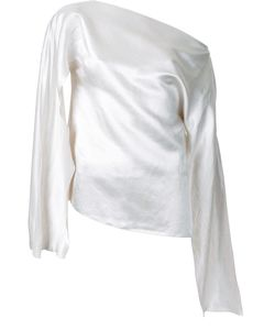 Christopher Esber | Ilona Open Sleeve Blouse 10 Linen/Flax/Viscose