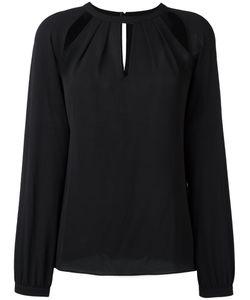 Michael Michael Kors | Shoulder Slit Blouse Small Polyester/Spandex/Elastane