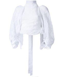 Christopher Esber   Desert Ripple Halter Blouse 6 Cotton/