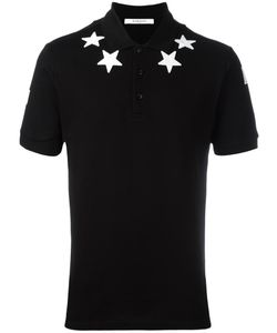 Givenchy | Star Appliqué Polo Shirt Medium Cotton